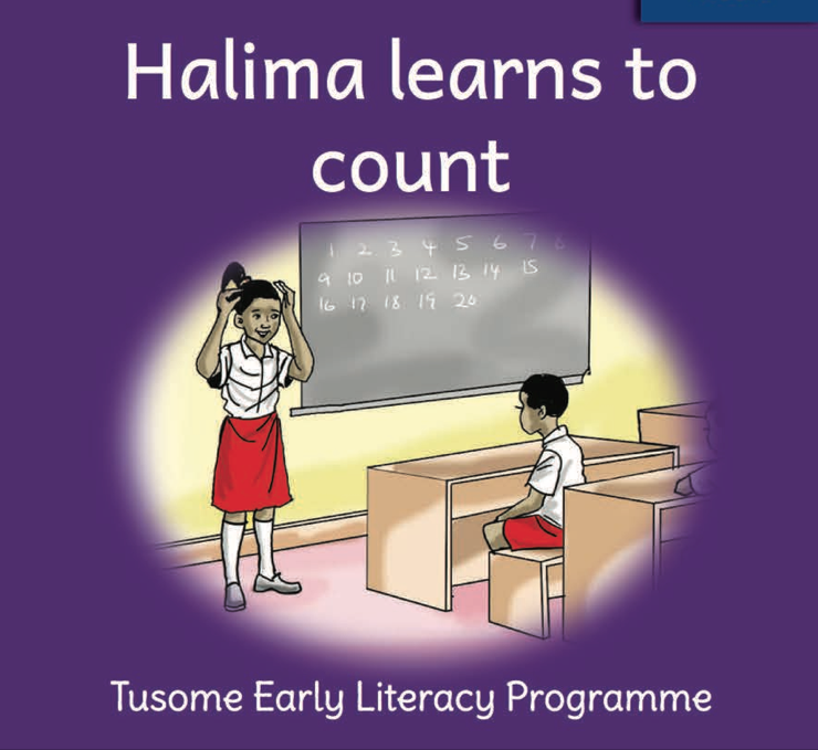 Halima learns to count