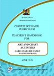 Teacher's Handbook For Art And Craft Activities EARLY YEARS EDUCATION